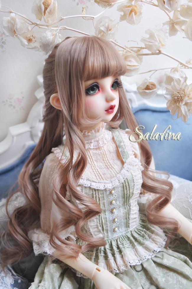ドール用ウィッグ  人形ウィッグ  Anna カールヘア 1/3/1/4/1/6サイズ 高温糸 BJD SD製品図4