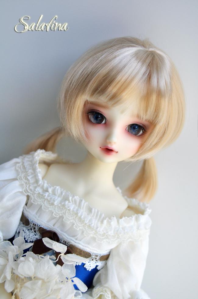 ドール用ウィッグ  人形ウィッグ  1/3/1/4/1/6サイズ 超柔らかい糸 ショートヘア製品図5