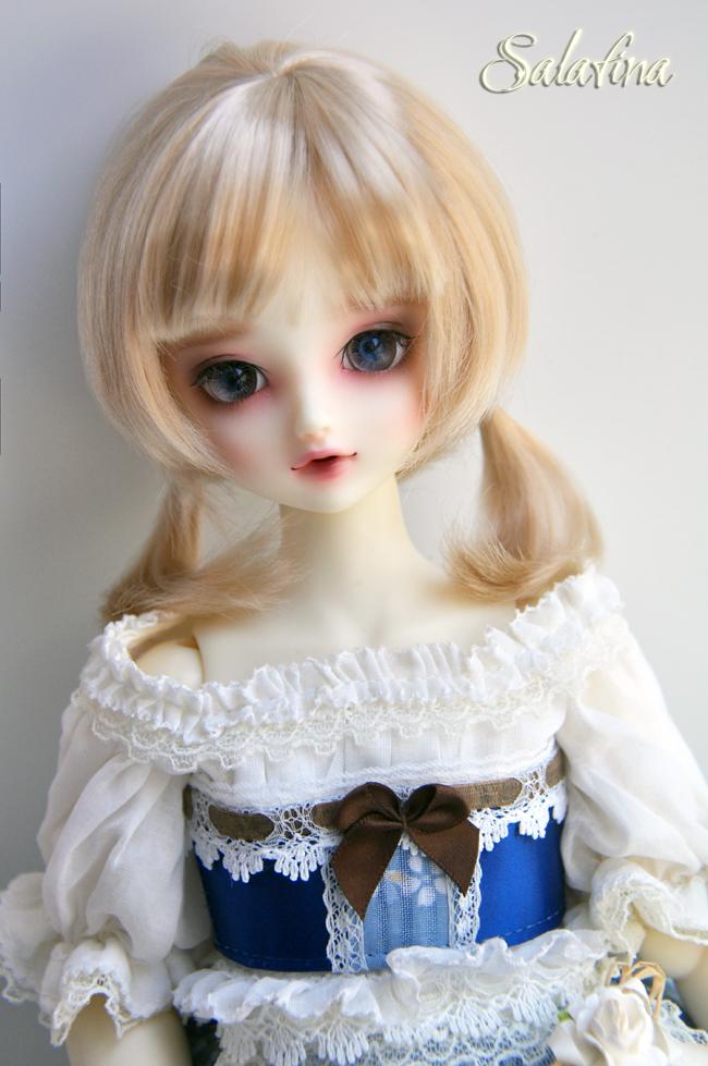 ドール用ウィッグ  人形ウィッグ  1/3/1/4/1/6サイズ 超柔らかい糸 ショートヘア製品図6