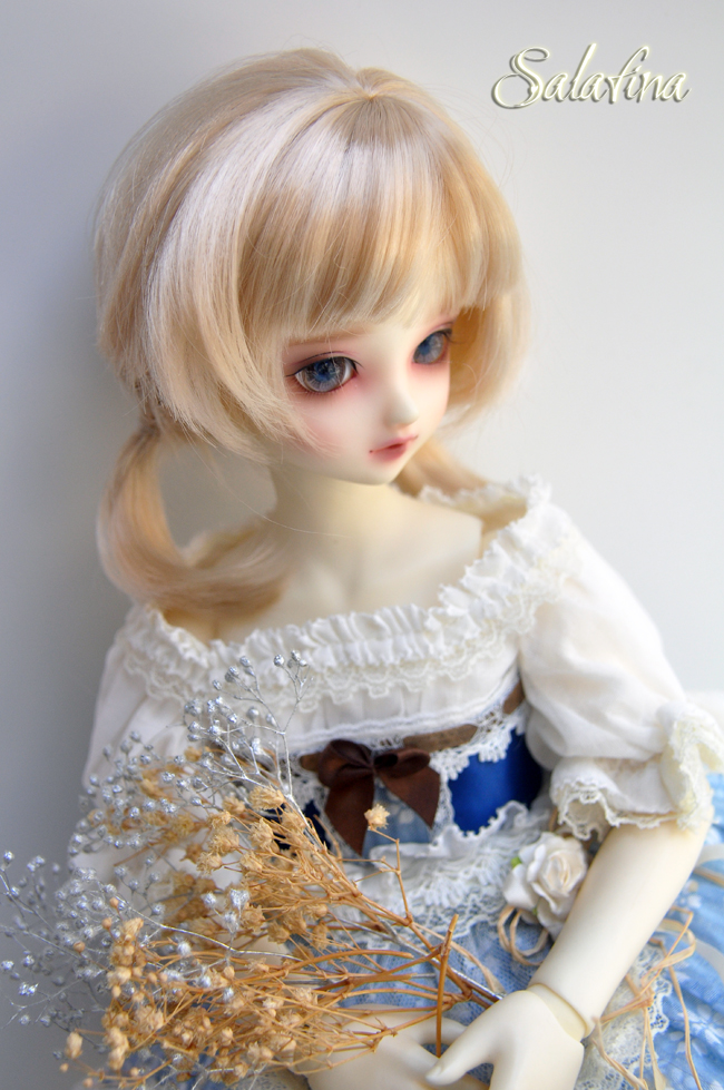 ドール用ウィッグ  人形ウィッグ  1/3/1/4/1/6サイズ 超柔らかい糸 ショートヘア製品図7