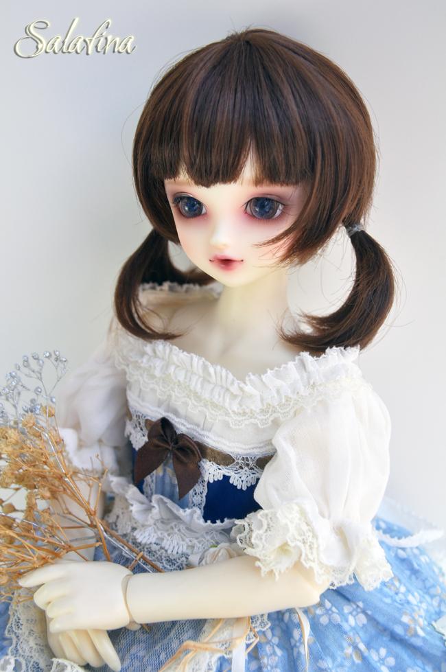 ドール用ウィッグ  人形ウィッグ  1/3/1/4/1/6サイズ 超柔らかい糸 ショートヘア製品図1