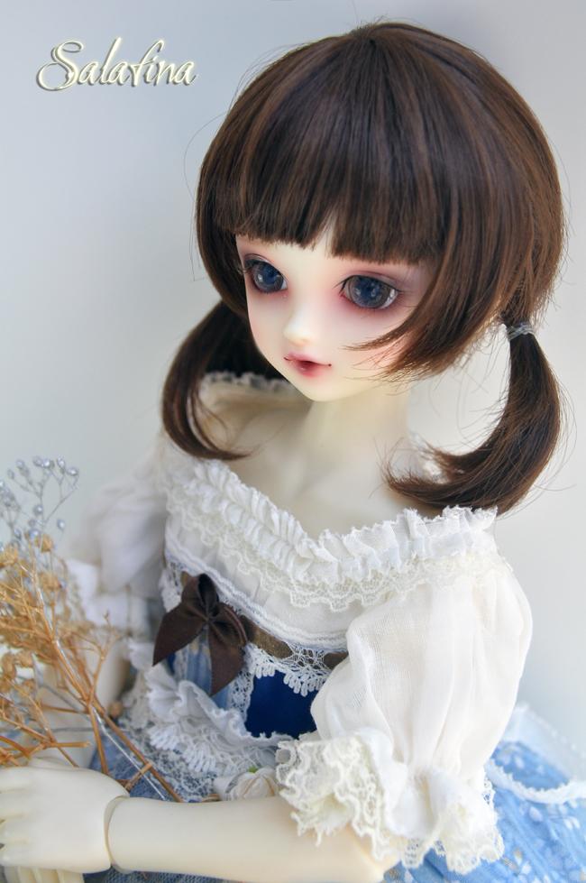 ドール用ウィッグ  人形ウィッグ  1/3/1/4/1/6サイズ 超柔らかい糸 ショートヘア製品図2