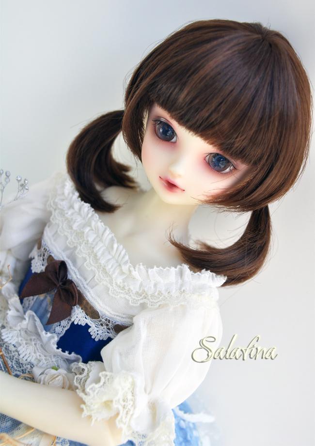 ドール用ウィッグ  人形ウィッグ  1/3/1/4/1/6サイズ 超柔らかい糸 ショートヘア製品図3
