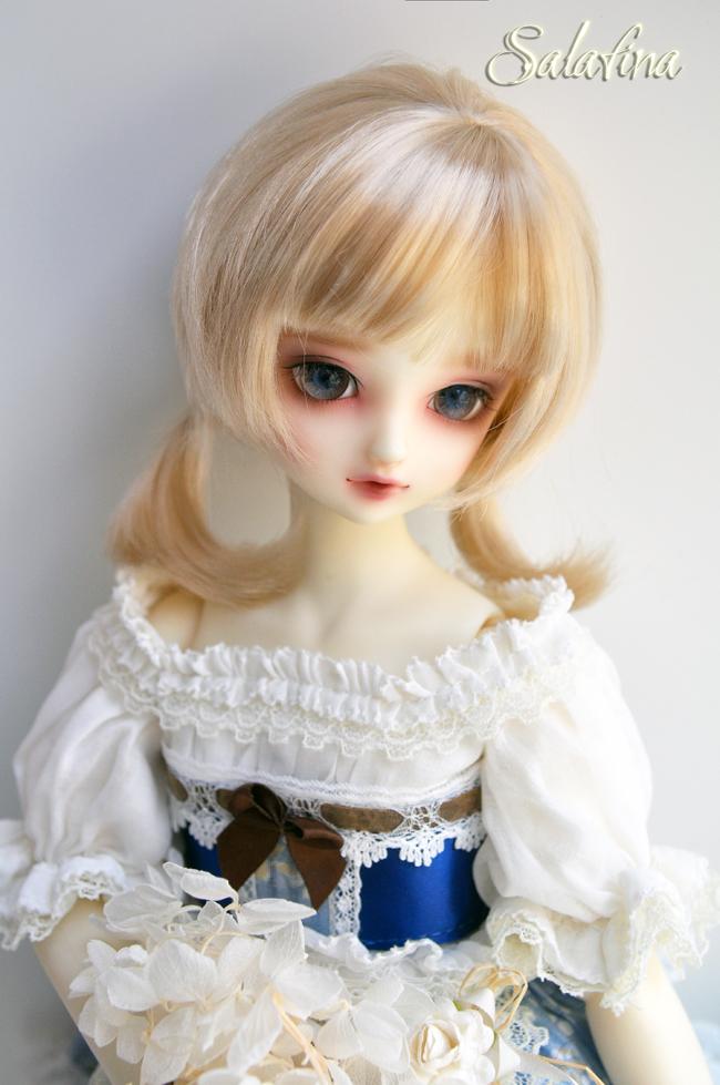 ドール用ウィッグ  人形ウィッグ  1/3/1/4/1/6サイズ 超柔らかい糸 ショートヘア製品図4