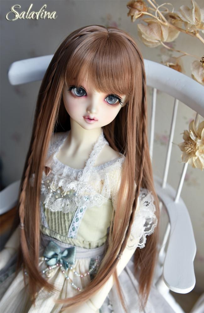 ドール用ウィッグ  人形ウィッグ  高温糸 自然少女感 ロングヘア 1/3/1/4/1/6サイズ製品図5