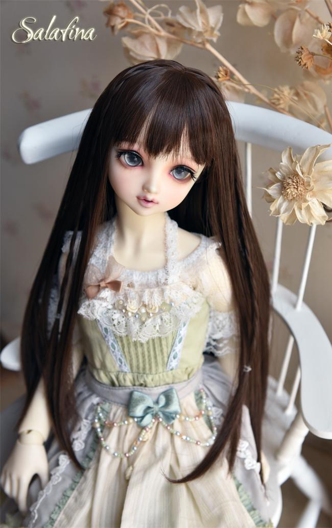 ドール用ウィッグ  人形ウィッグ  高温糸 自然少女感 ロングヘア 1/3/1/4/1/6サイズ製品図6