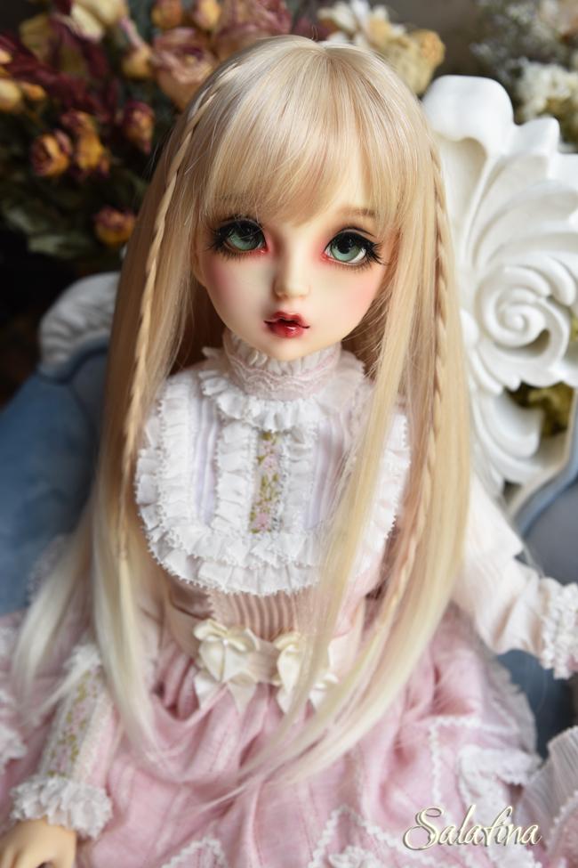 ドール用ウィッグ  人形ウィッグ  高温糸 自然少女感 ロングヘア 1/3/1/4/1/6サイズ製品図1