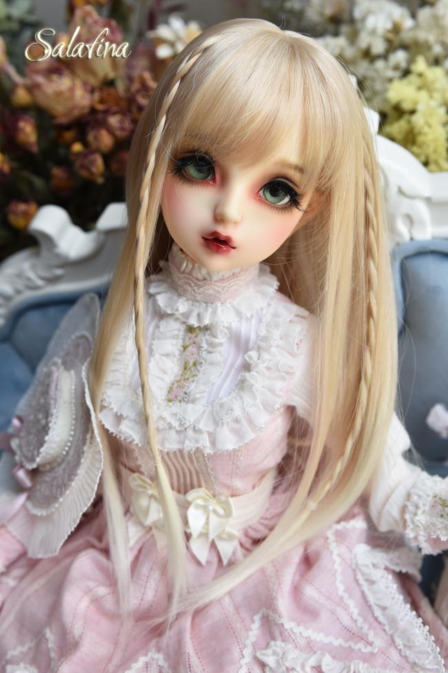 ドール用ウィッグ  人形ウィッグ  高温糸 自然少女感 ロングヘア 1/3/1/4/1/6サイズ製品図2