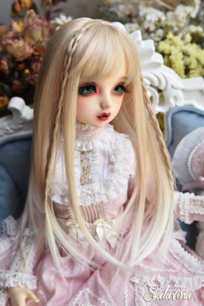 ドール用ウィッグ  人形ウィッグ  高温糸 自然少女感 ロングヘア 1/3/1/4/1/6サイズ製品図3