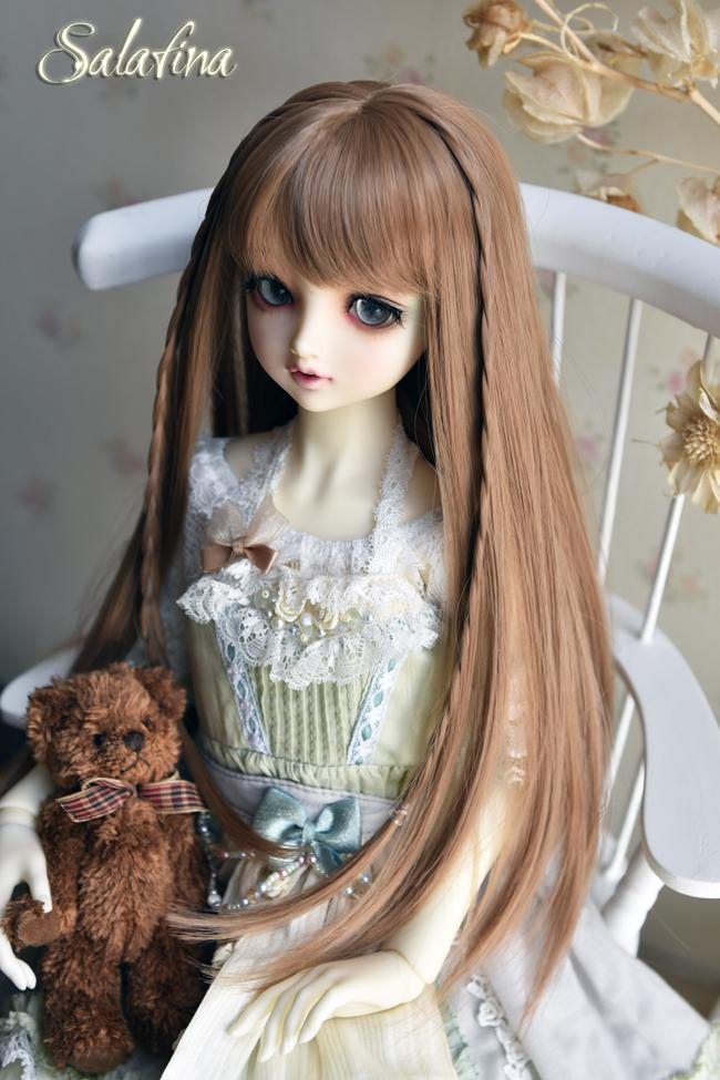 ドール用ウィッグ  人形ウィッグ  高温糸 自然少女感 ロングヘア 1/3/1/4/1/6サイズ製品図4