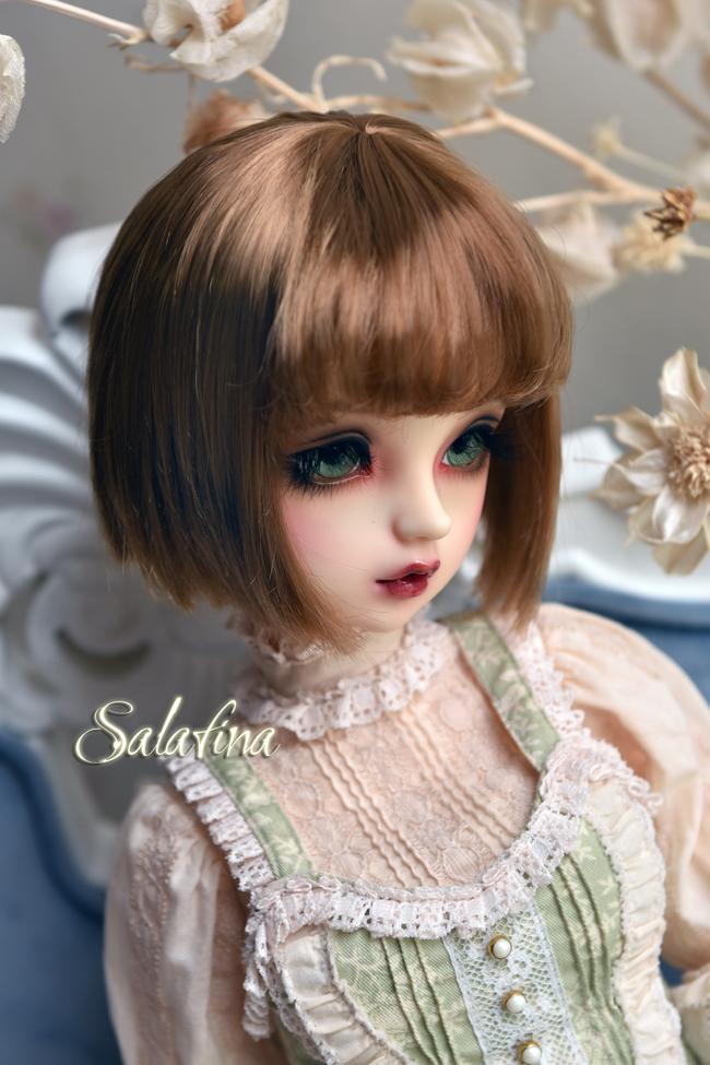 ドール用ウィッグ  人形ウィッグ 日常ショートヘア 1/3/1/4/1/6/1/8サイズ 超柔らかい糸 SD BJD製品図7