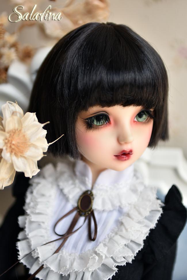 ドール用ウィッグ  人形ウィッグ 日常ショートヘア 1/3/1/4/1/6/1/8サイズ 超柔らかい糸 SD BJD製品図8