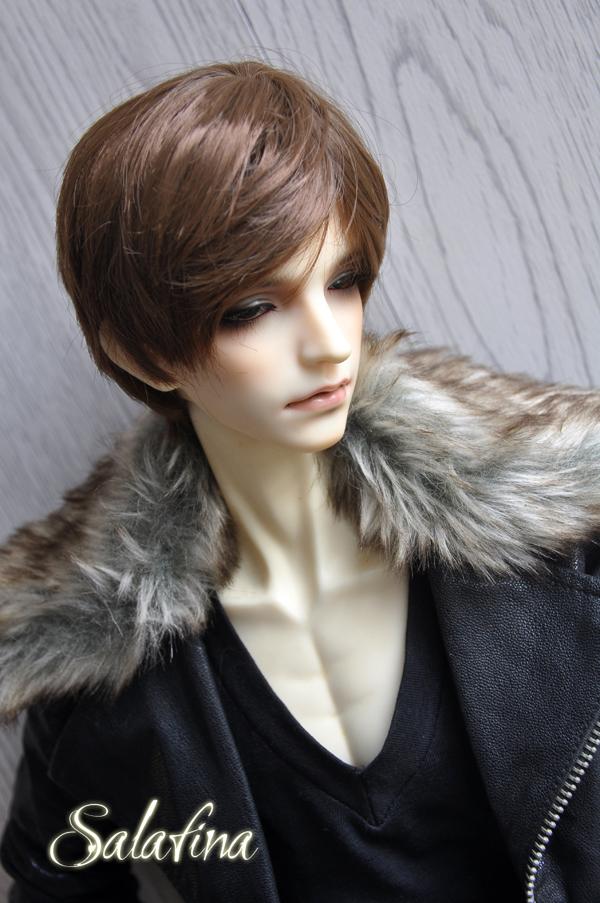ドール用ウィッグ  人形ウィッグ 男性 日常ショートヘア 超柔らかい糸 1/3/1/4/1/6サイズ 製品図1