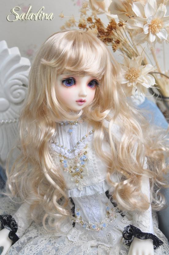 ドール用ウィッグ  人形ウィッグ カールヘア 1/3/1/4/1/6サイズ 超柔らかい糸 BJD SD製品図5