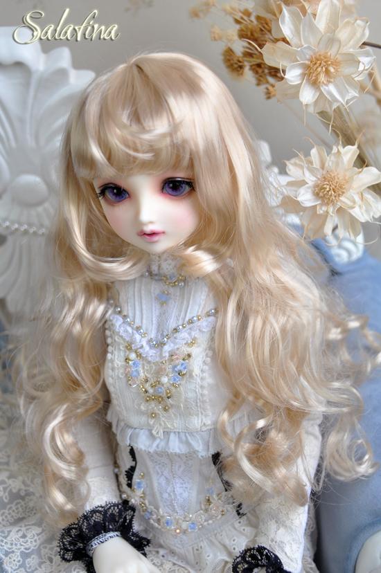 ドール用ウィッグ  人形ウィッグ カールヘア 1/3/1/4/1/6サイズ 超柔らかい糸 BJD SD製品図6