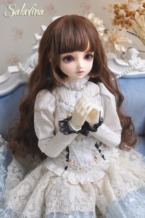 ドール用ウィッグ  人形ウィッグ カールヘア 1/3/1/4/1/6サイズ 超柔らかい糸 BJD SD製品図1