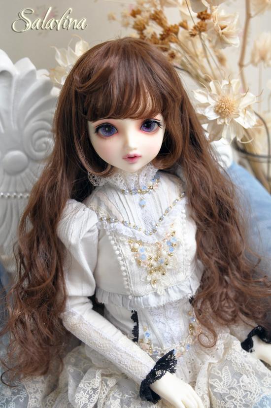 ドール用ウィッグ  人形ウィッグ カールヘア 1/3/1/4/1/6サイズ 超柔らかい糸 BJD SD製品図2