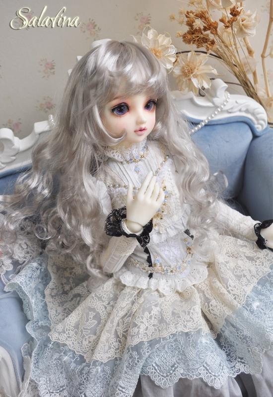 ドール用ウィッグ  人形ウィッグ カールヘア 1/3/1/4/1/6サイズ 超柔らかい糸 BJD SD製品図4