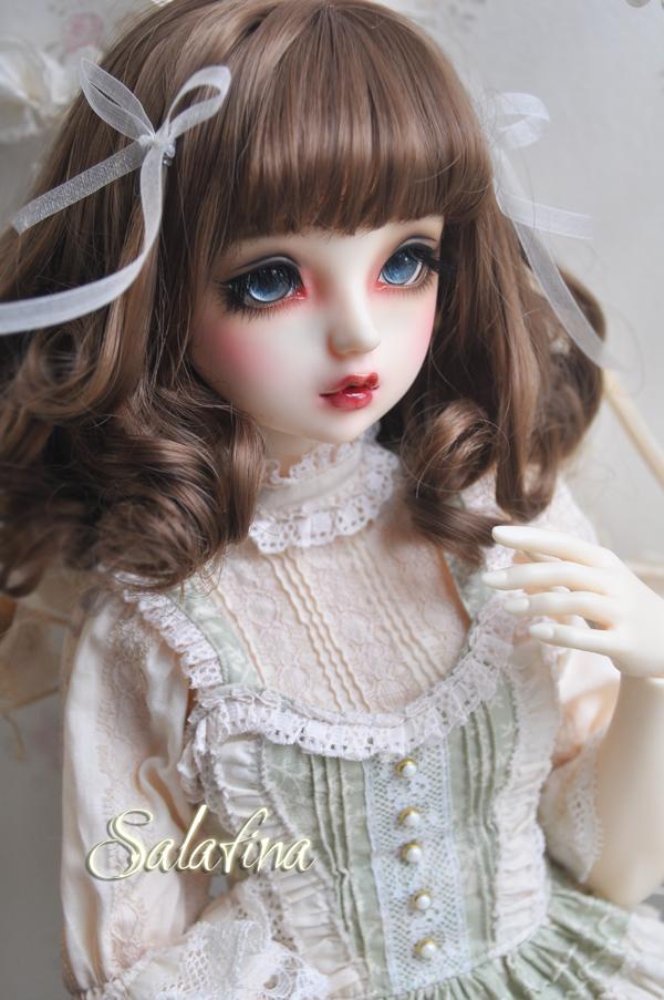 ドール用ウィッグ  人形ウィッグ 欧米スタイル 1/3/1/4/1/6サイズ 高温糸 BJD SD製品図4