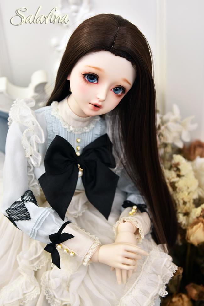 ドール用ウィッグ  人形ウィッグ ロングヘア リカカール 1/3/巨児サイズ 超柔らかい糸 BJD SD製品図5