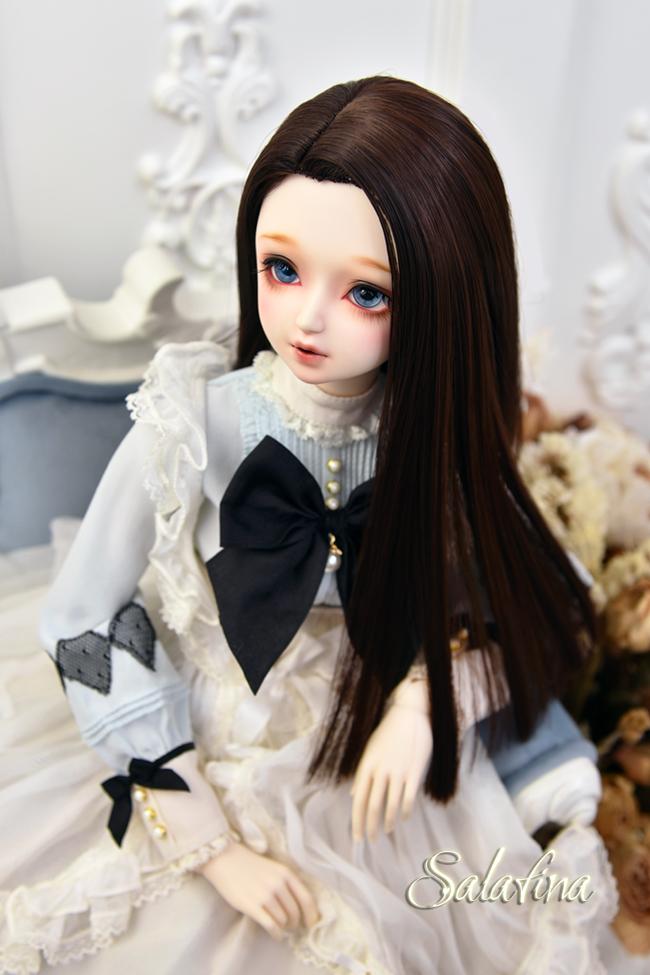 ドール用ウィッグ  人形ウィッグ ロングヘア リカカール 1/3/巨児サイズ 超柔らかい糸 BJD SD製品図6