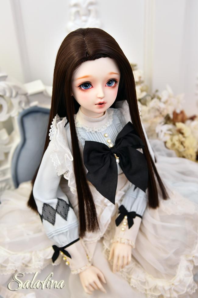 ドール用ウィッグ  人形ウィッグ ロングヘア リカカール 1/3/巨児サイズ 超柔らかい糸 BJD SD製品図4