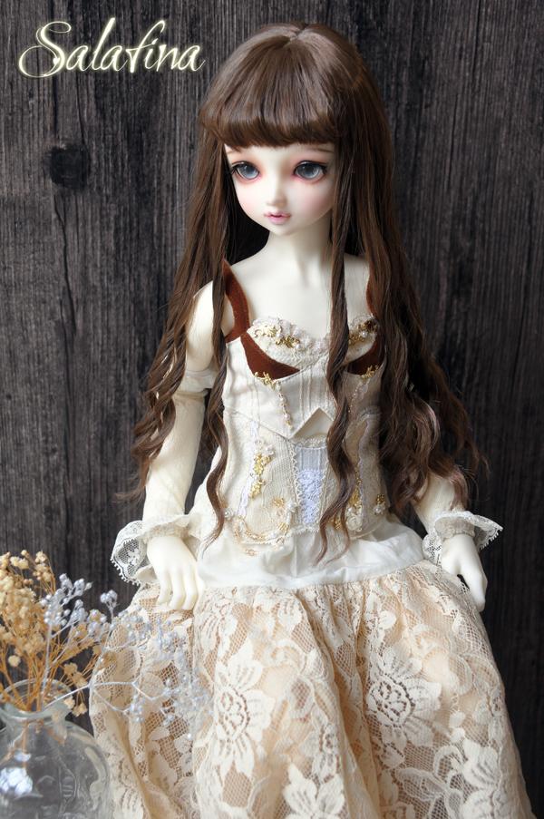 ドール用ウィッグ  人形ウィッグ ロングヘア 少女感 1/3/1/4/1/6/巨児サイズ 超柔らかい糸 BJD SD製品図5