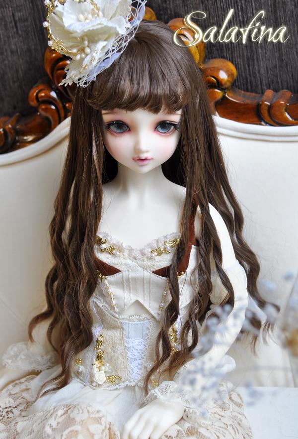 ドール用ウィッグ  人形ウィッグ ロングヘア 少女感 1/3/1/4/1/6/巨児サイズ 超柔らかい糸 BJD SD製品図2