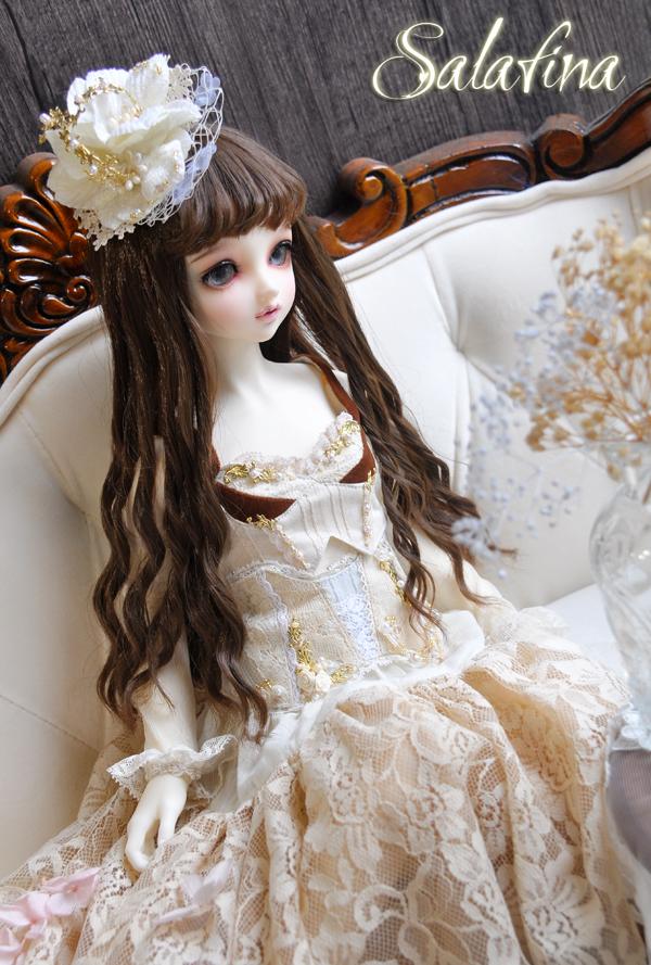 ドール用ウィッグ  人形ウィッグ ロングヘア 少女感 1/3/1/4/1/6/巨児サイズ 超柔らかい糸 BJD SD製品図3