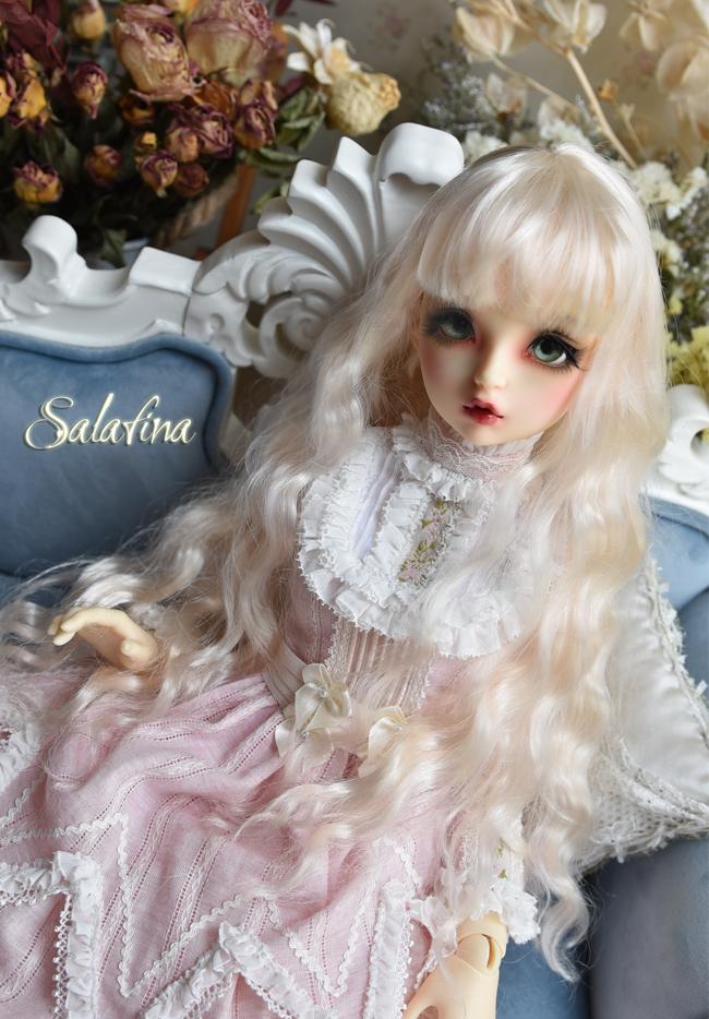ドール用ウィッグ  人形ウィッグ 月の女神 ロングヘア 1/3/1/4/1/6サイズ 超柔らかい糸 BJD SD製品図5