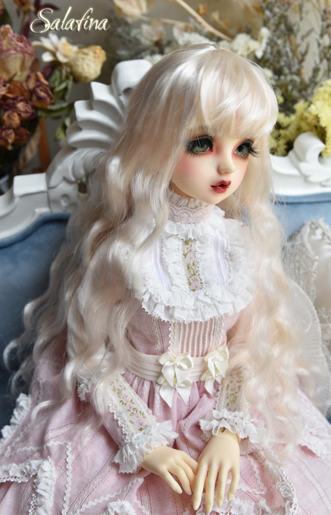 ドール用ウィッグ  人形ウィッグ 月の女神 ロングヘア 1/3/1/4/1/6サイズ 超柔らかい糸 BJD SD製品図6