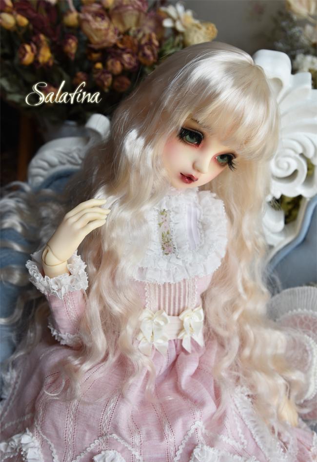 ドール用ウィッグ  人形ウィッグ 月の女神 ロングヘア 1/3/1/4/1/6サイズ 超柔らかい糸 BJD SD製品図7