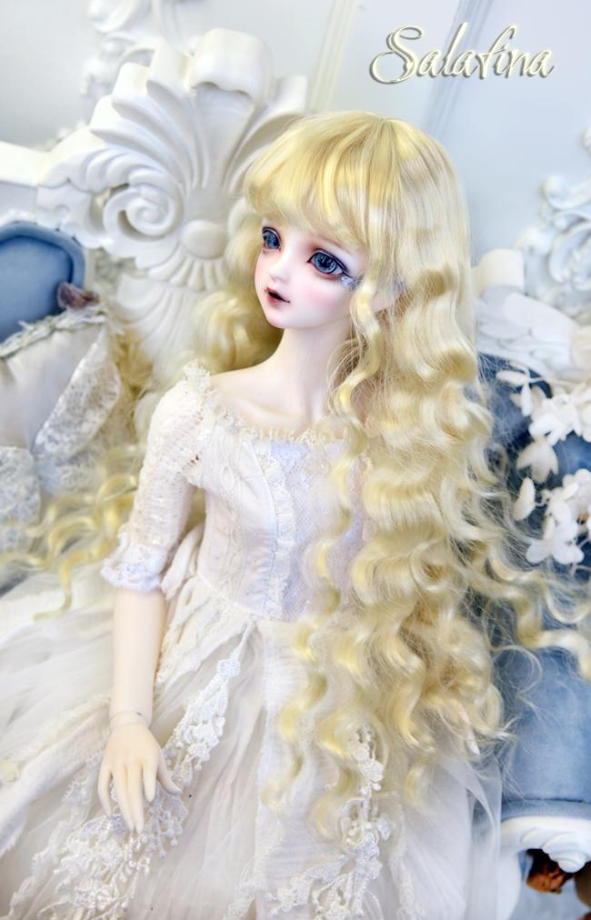 ドール用ウィッグ  人形ウィッグ 月の女神 ロングヘア 1/3/1/4/1/6サイズ 超柔らかい糸 BJD SD製品図1