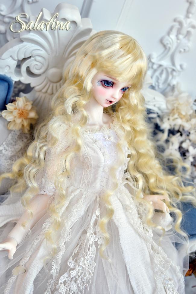 ドール用ウィッグ  人形ウィッグ 月の女神 ロングヘア 1/3/1/4/1/6サイズ 超柔らかい糸 BJD SD製品図2