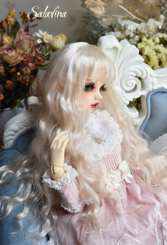 ドール用ウィッグ  人形ウィッグ 月の女神 ロングヘア 1/3/1/4/1/6サイズ 超柔らかい糸 BJD SD製品図3