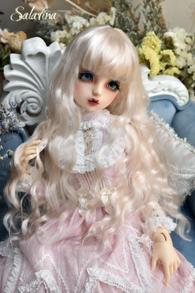 ドール用ウィッグ  人形ウィッグ 月の女神 ロングヘア 1/3/1/4/1/6サイズ 超柔らかい糸 BJD SD製品図4