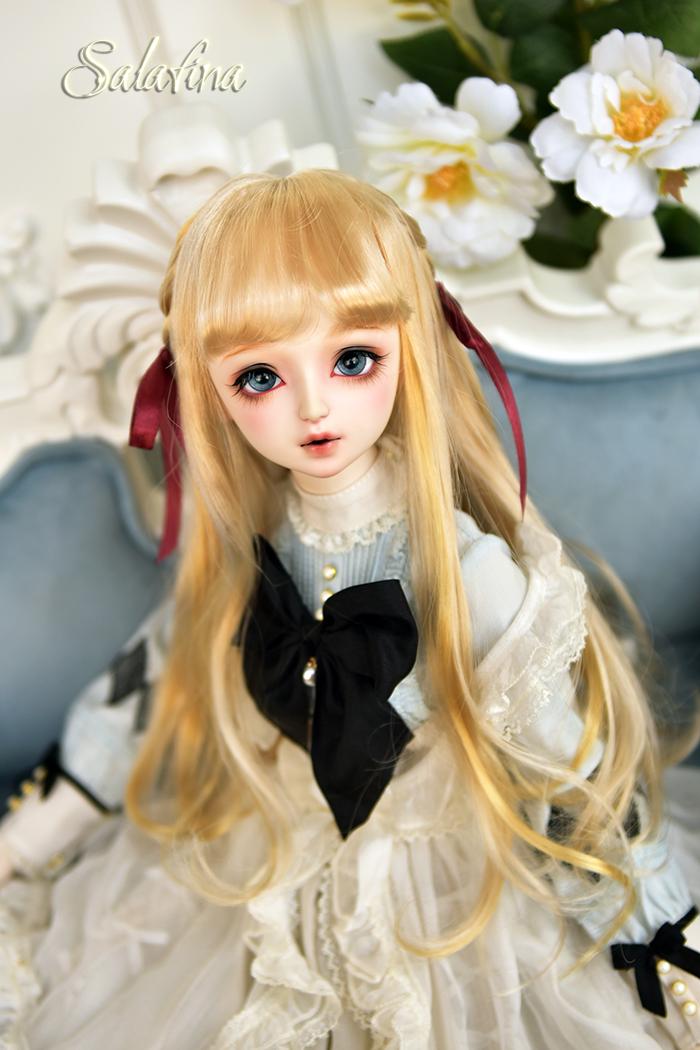 ドール用ウィッグ 人形ウィッグ  ロングヘア 弁髪 1/3/1/4/1/6サイズ 超柔らかい糸 製品図5