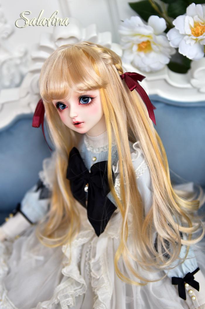 ドール用ウィッグ 人形ウィッグ  ロングヘア 弁髪 1/3/1/4/1/6サイズ 超柔らかい糸 製品図6