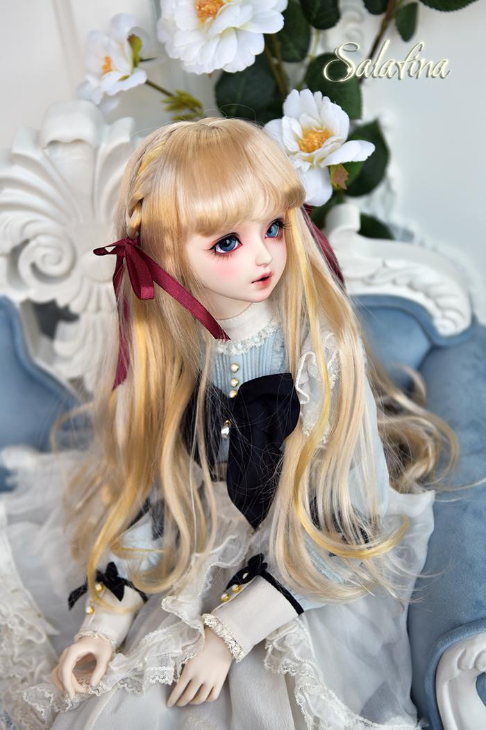 ドール用ウィッグ 人形ウィッグ  ロングヘア 弁髪 1/3/1/4/1/6サイズ 超柔らかい糸 製品図7