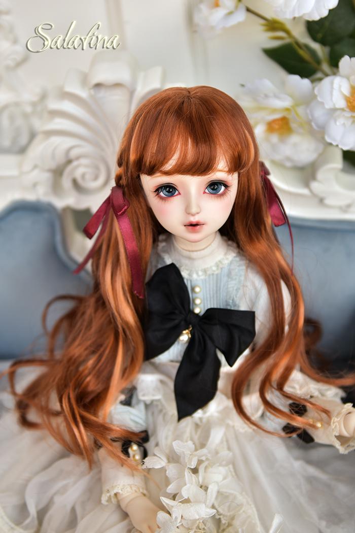 ドール用ウィッグ 人形ウィッグ  ロングヘア 弁髪 1/3/1/4/1/6サイズ 超柔らかい糸 製品図9