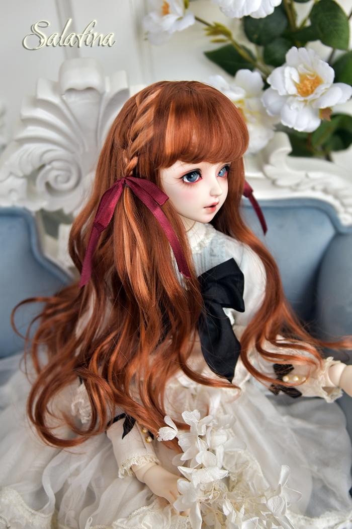 ドール用ウィッグ 人形ウィッグ  ロングヘア 弁髪 1/3/1/4/1/6サイズ 超柔らかい糸 製品図10