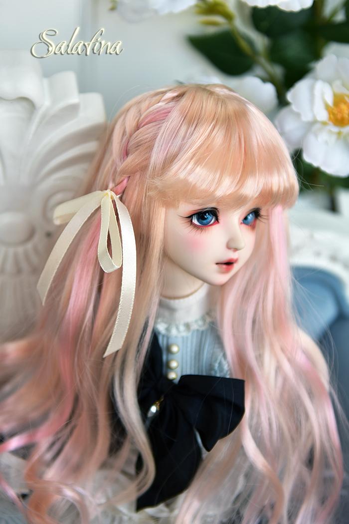 ドール用ウィッグ 人形ウィッグ  ロングヘア 弁髪 1/3/1/4/1/6サイズ 超柔らかい糸 製品図13