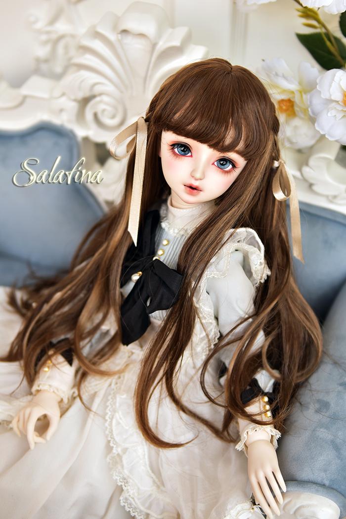 ドール用ウィッグ 人形ウィッグ  ロングヘア 弁髪 1/3/1/4/1/6サイズ 超柔らかい糸 製品図1