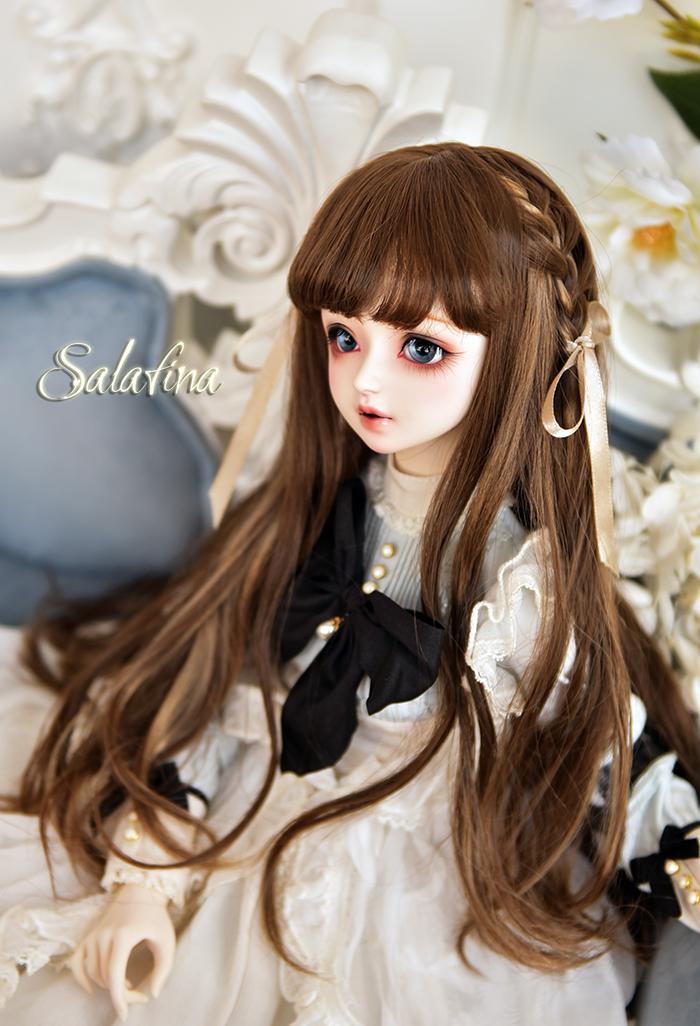 ドール用ウィッグ 人形ウィッグ  ロングヘア 弁髪 1/3/1/4/1/6サイズ 超柔らかい糸 製品図2