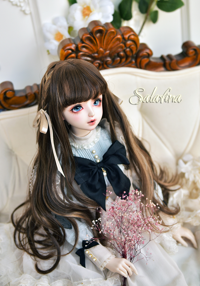 ドール用ウィッグ 人形ウィッグ  ロングヘア 弁髪 1/3/1/4/1/6サイズ 超柔らかい糸 製品図3