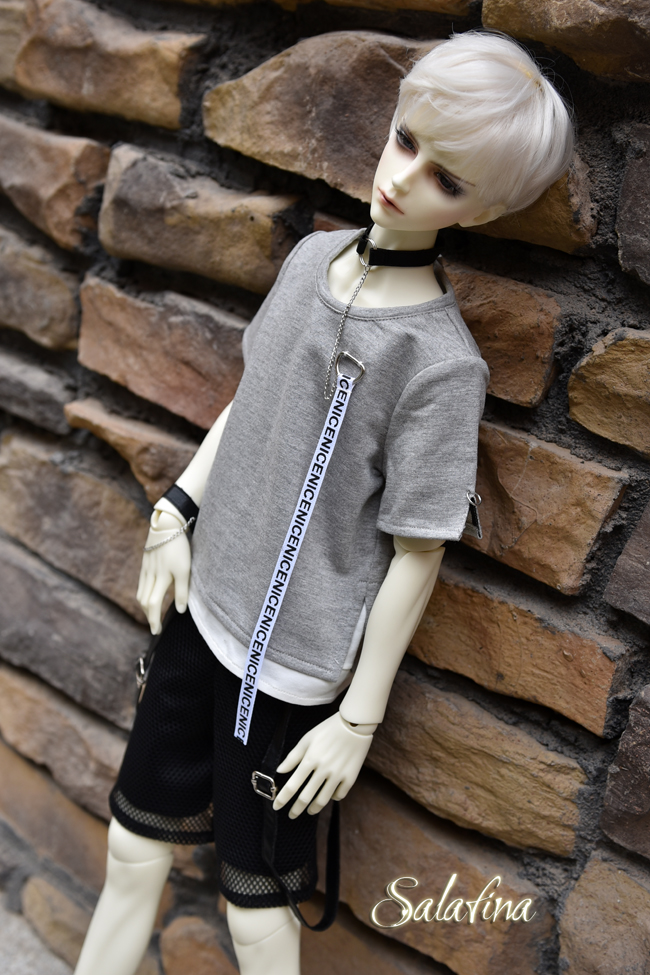 ドール衣装 SalaXCrazy Bear 上着+ズボン+腕飾り BJD衣装 大1/3サイズ製品図6
