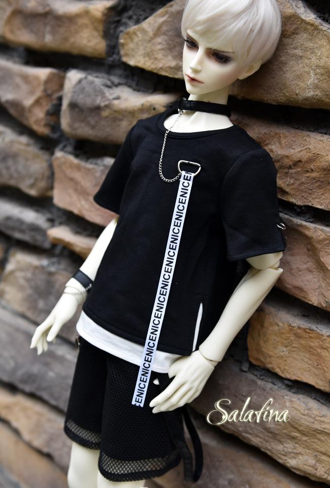ドール衣装 SalaXCrazy Bear 上着+ズボン+腕飾り BJD衣装 大1/3サイズ製品図3