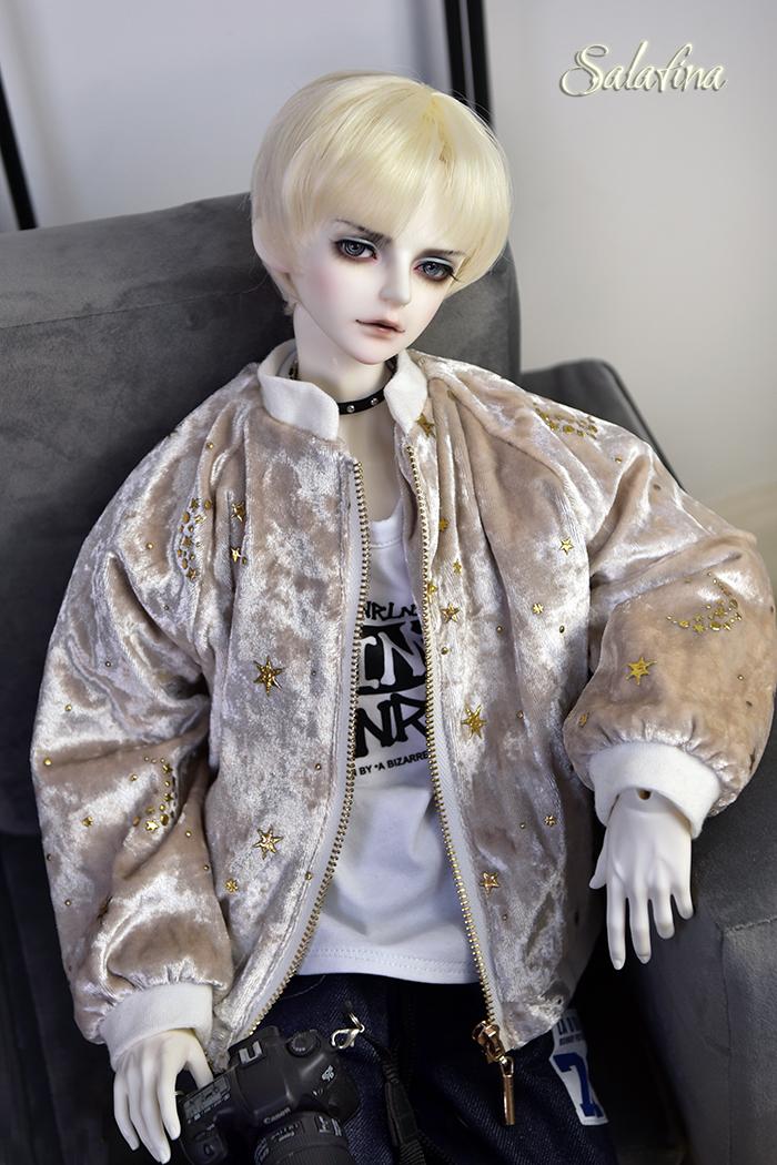 ドール衣装 ジャケット 70cm72cm叔sd17 上着 shining star 男用 BJD衣装 1/3サイズ製品図3