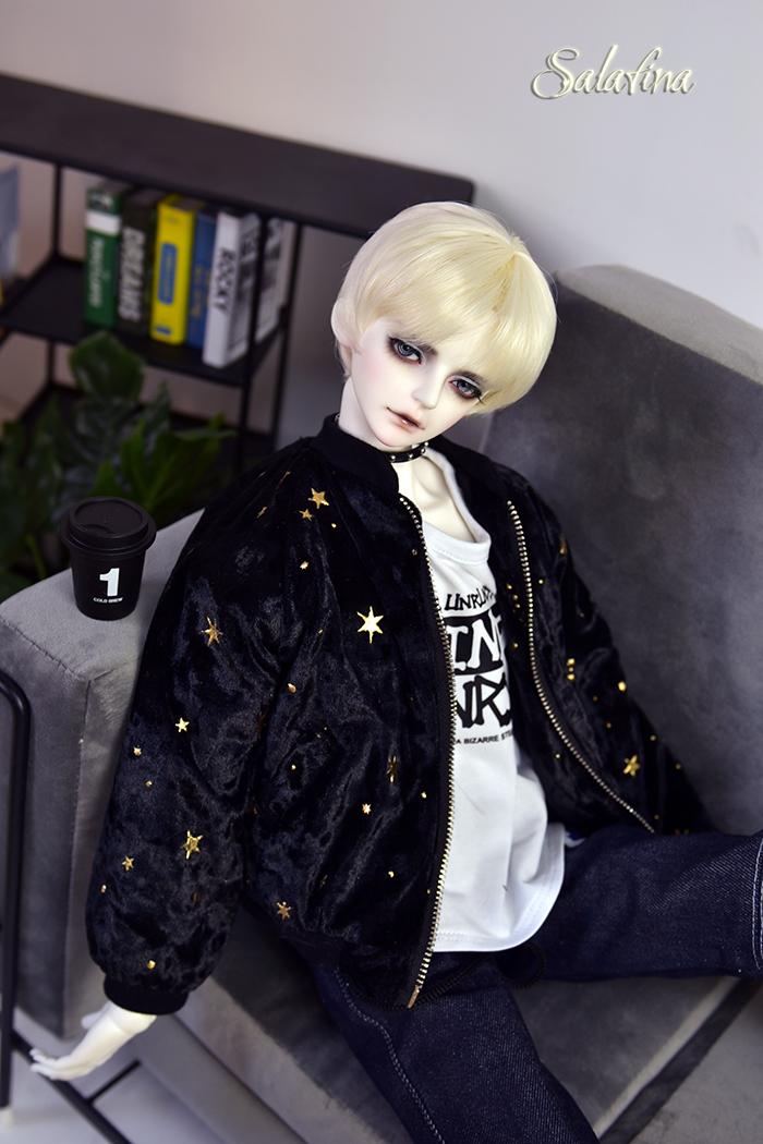 ドール衣装 ジャケット 70cm72cm叔sd17 上着 shining star 男用 BJD衣装 1/3サイズ製品図4