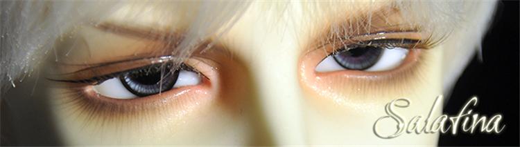 ガラスアイ SD BJD ドール用ガラスアイ「超自然深灰」アイリス 三白眼 141618mm製品図5